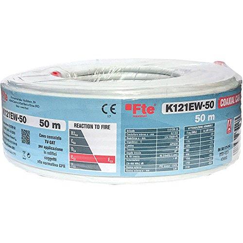 k121ew-50 Cable Coax 5 mm PVC ECA 50 mt. FTE Maximal: Amazon.es: Bricolaje y herramientas