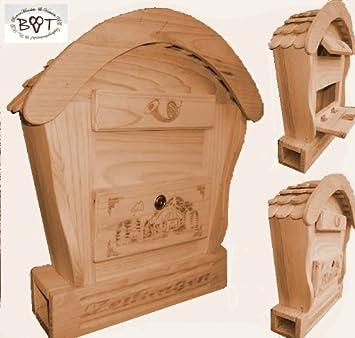 HBK RD NATUR Briefkasten, Holzbriefkasten Mit Holz   Deko Aus Holz No 1