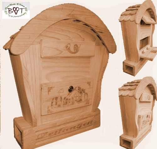 Hbk Rd Natur Briefkasten Holzbriefkasten Mit Holz Deko Aus Holz