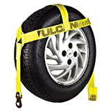 Vulcan Classic Wheel Dolly Tire Harness With Flat Snap Hooks - 1665 lbs. SWL (Yellow)