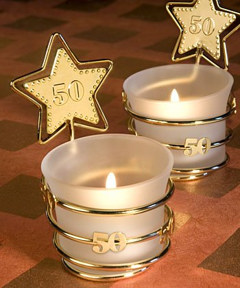 50th Anniversary Candle Favors - 6