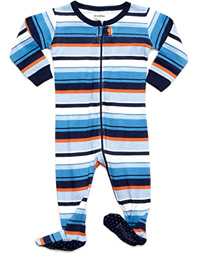 DinoDee Baby Boys Footed Pajamas Sleeper 100% Cotton Kids Pjs (6 Months-5 Toddler)