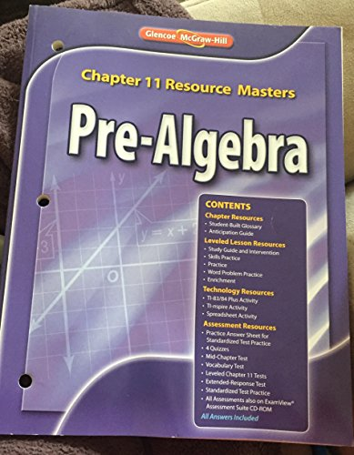- Glencoe Pre-Algebra Chapter 11 Resource Masters