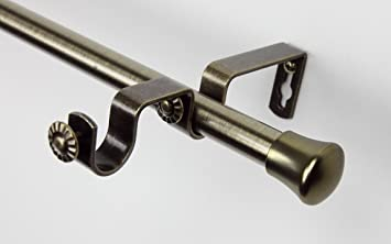 Modern Kit Double Curtain Rod And Hardware Set Size: 28u0026quot;   48u0026quot; W