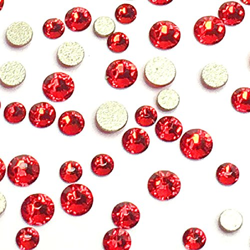 Flat Back Crystals Red Light - 5