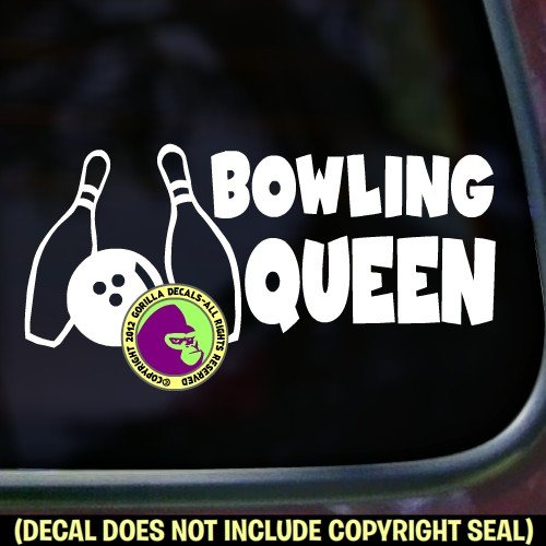 BOWLING QUEEN Bowl Womens Bowler Balls Strike Vinyl for sale  Delivered anywhere in USA