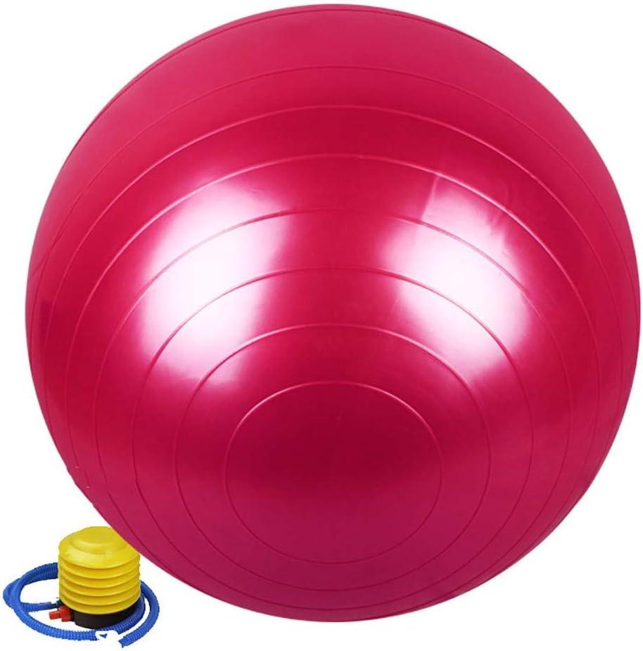 Color : Purple Balle de Gymnastique for Le Yoga Pilates avec 95cm Pompe Rapide Force de Base am/éliore l/équilibre JAJIQIJU Ballon dexercice maux de Dos Swiss Ball avec Pompe Rapide