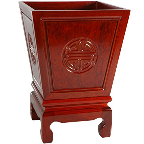(Oriental Furniture Rosewood Long Life Flower Container - Cherry)