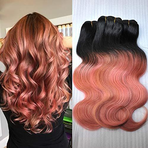 Amazon Com Alibless Ombre Hair Bundles Ombre Color 1b Pink Rose