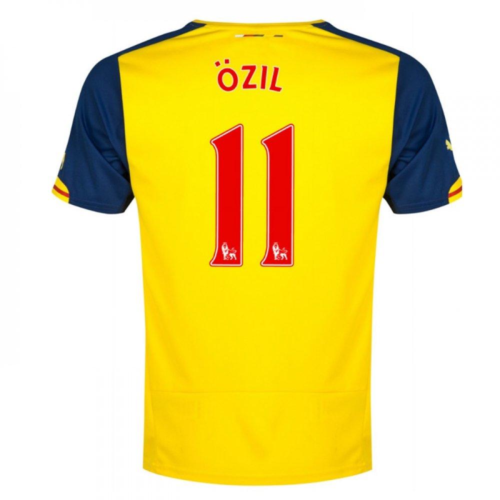 2014-15 Arsenal Away Football Soccer T-Shirt Trikot (Mesut Ozil 11)