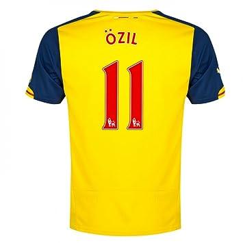 c46ac8b6a 2014-15 Arsenal Away Shirt (Ozil 11) - Kids  Amazon.co.uk  Sports ...
