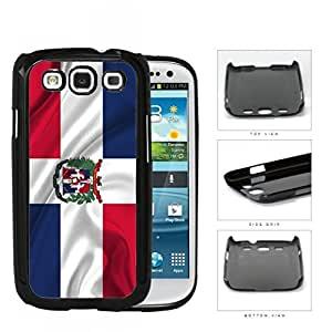 Dominican Flag With Wavy Creases Hard Plastic Snap On Cell Phone Case Samsung Galaxy S3 SIII I9300