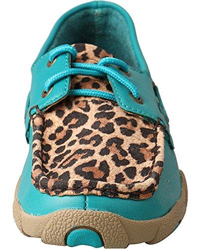 Vridde X Damer Turkis Leopard Kjøre Moc Turkis