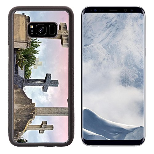 Liili Premium Samsung Galaxy S8 Plus Aluminum Backplate Bumper Snap Case Crosses in the catholic cemetery of Alcudia Majorca Balearic Islands C Photo 11119972 Simple Snap Carrying ()