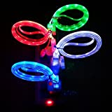 ZYZ(TM) LATEST! 4 PECES !PECES IPHONE 6 6 PLUS IPHONE 5 5S LED Glow in the Dark Light-up USB Data Sync Charger Cable