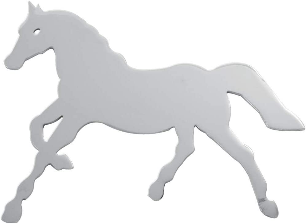 R//H GG Grand General 90471 4-1//2 X 6 Inches Chrome Small Horse w//Studs