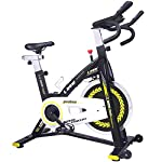 pooboo Indoor Cycling Bike Trainer, Professional Exercise Bike Stationary Bike for Home Cardio Gym Workout (Yellow)