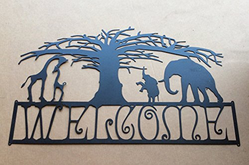 Welcome Sign with an African Scene (M1)
