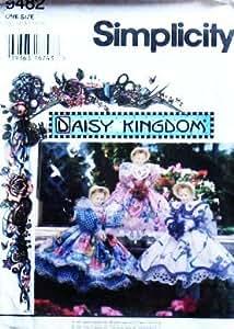 "SIMPLICITY 9482 ~ DOLL DRESS PATTERN ~ DAISY KINGDOM ~ 15"" DOLL ~ PORCELAIN"