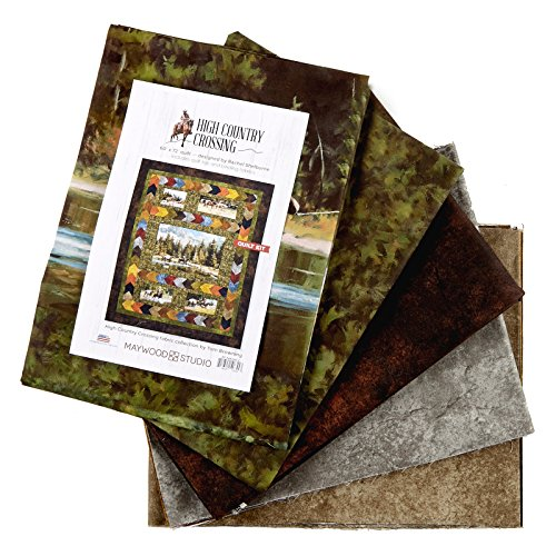 """Maywood Studio High Country Crossing 60"""" Quilt Kit Multi"""