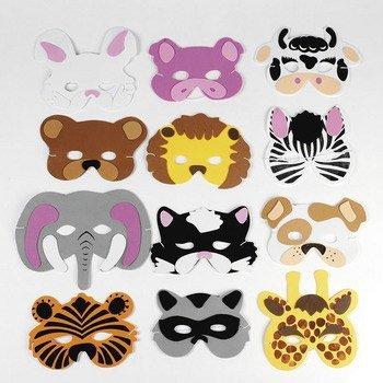 24 Foam Animal Masks (Animal Masks For Kids)