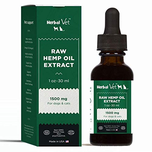 - Raw Hemp Oil for Dogs, Cats and Horses - Hemp Extract to Reduce Inflammation, Joint Pain, Improve Skin,Coat, Relieve Stress & Anxiety- All Natural,Health & Immunity Support with Omega 3s (1500mg)