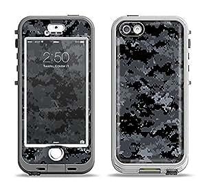 The Black Digital Camouflage Apple iPhone 5s LifeProof Nuud Black Case and Skin Set (Black LifeProof Case Included!)