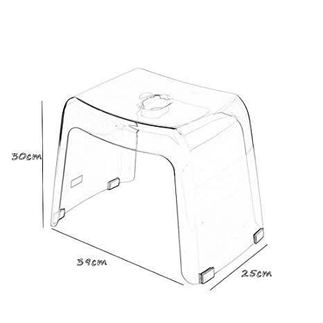 Amazon.com: Taburete de baño de ducha, portátil, con cojín ...