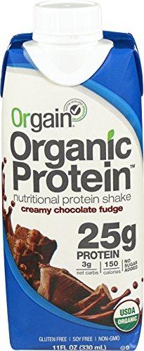 Orgain Organic 25g Protein Shake, Creamy Chocolate Fudge, 11