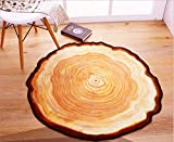 LAGHCAT Area Rugs Tree Annual Ring 3D Non-Slip Rug