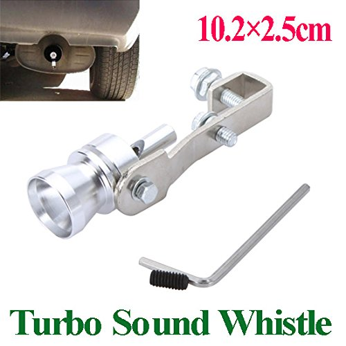 AutoStyle Universal Turbo Sound Whistle Exhaust Pipe Tailpipe Fake BOV Blow-off Valve Simulator Aluminum Size M 10.2x2.5cm 1pc: Amazon.es: Coche y moto