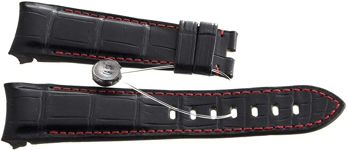 Genuine Graham Red Stitching Black Leather Watch Band Strap 24mm x 20mm