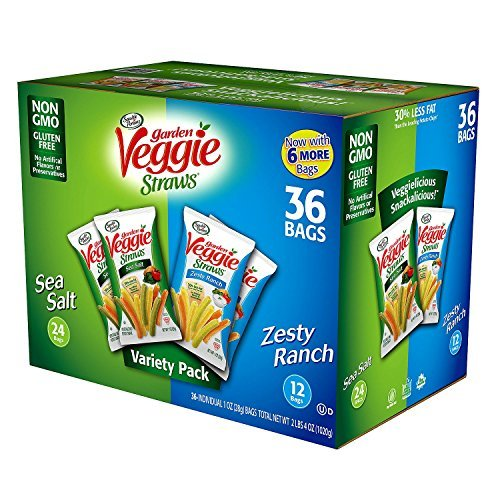 Sensible Portions Garden Veggie Straws 1oz Variety (Pack of 36)