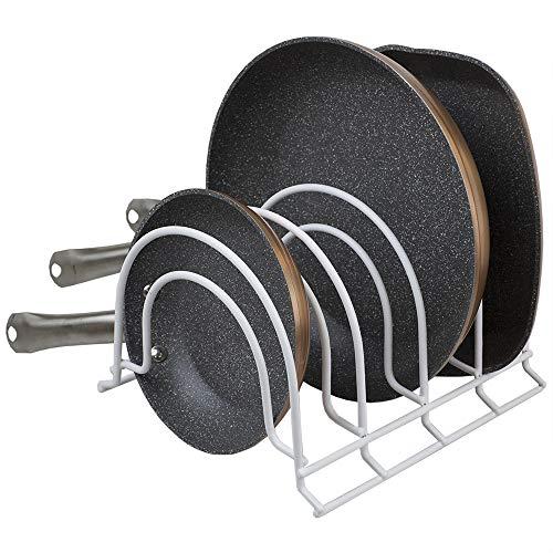 Home Basics 4 Section Multi-Purpose Vinyl Coated Steel Pan Organizer, White