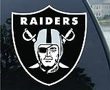 NFL Oakland Raiders 63061011 Perfect Cut Color Decal, 4″ x 4″, Black