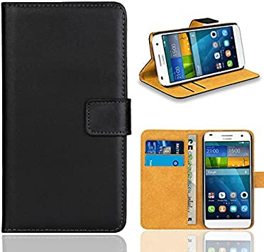 Huawei Ascend G7 Case, FoneExpert Premium Leather Flip Bag Wallet Case Cover For Huawei Ascend G7 (Black)