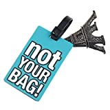 Luggage Label ,TOOPOOT Suitcase Luggage Tags Holder Identifier Label (Blue) (g)