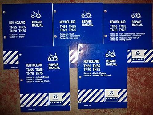 new holland tn55 tn65 tn70 tn75 tractor service repair manual 10 99 rh amazon com T55 Tractor Parts TN55 New Holland Loader
