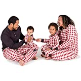 Burt's Bees Baby Unisex Family Jammies, Buffalo Check, Holiday Matching Pajamas, 100% Organic Cotton Cranberry, Mens XX-Large