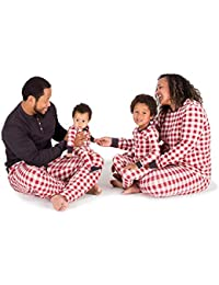 Unisex Family Jammies, Buffalo Check, Holiday Matching Pajamas, 100% Organic Cotton