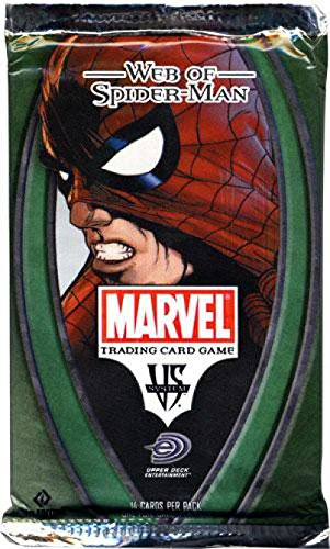 (Marvel VS System Trading Card Game Web of SpiderMan Booster Pack 14 Cards)