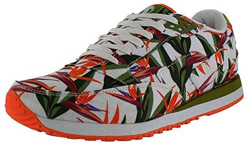 radii Footwear Men's Phuket Runner White Birds of Paradise 11 M