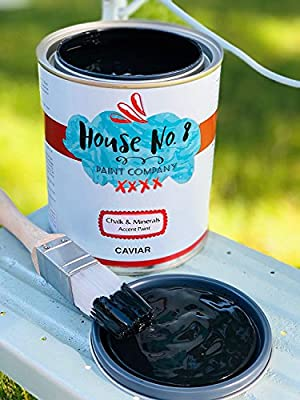 Chalk Paint Finish - Chalk Furniture, Cabinet and Accent Paint by House No.8 Paint Company. Smooth Velvety Matte, No Prep - Won't Scratch Off! Ultra odorless Low VOC - Quart