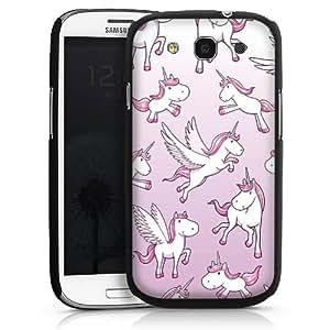 Carcasa Design Funda para Samsung Galaxy S3 i9300 / LTE i9305 HardCase black - Fluffy Unicorns