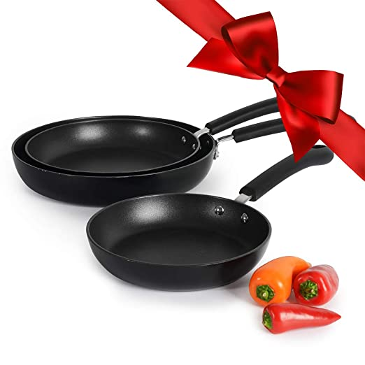 ProCook Gourmet Induction Non-Stick Strain and Pour Saucepan Set 3 Piece