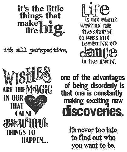 Tim Holtz 7 x 8.5-inch Cling Rubber Stamp Set Good Thoughts by Stampers Anonymous by Tim Holtz