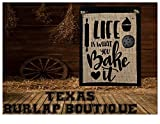 life bake - FREE SHIPPING! Life is what you Bake it Burlap Country Rustic Chic Wedding Sign Western Home Décor