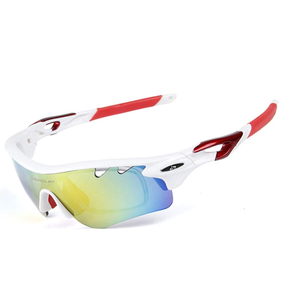 YFFS Portable Glasses Polarized Sunglasses Cycling Sports Glasses Outdoor Sports Sunglasses (Color : E)