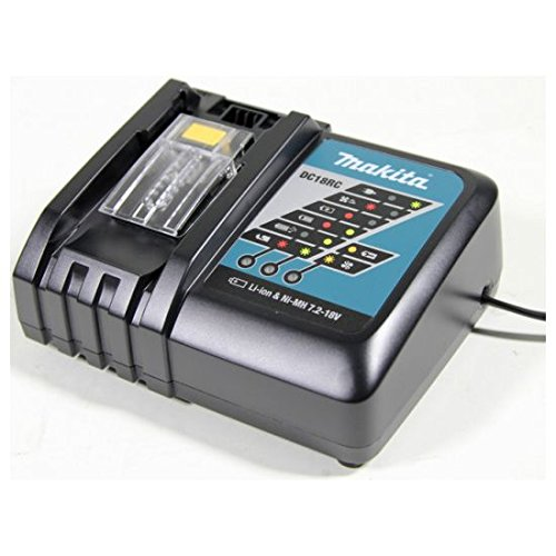 Price comparison product image MAKITA DC18RC 18V Lithium-Ion Rapid Optimum Charger / Battery Chargers / Compact Design / LED light / Fast Charging