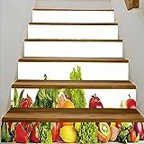 fruit border sticker - vanfan 3D Creative fruit and vegetable borders DIY Refurbished Stairs Stickers Removable Waterproof Stairs Mural(39.3